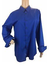 Calvin Klein Mens Polo Button Down Cotton Long Sleeve Non Iron Body Fit Slim M