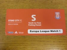29/09/2011 billet: Stoke City v BESIKTAS [UEFA Europa League] Sud parking par