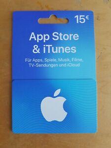 App Store und iTunes Karte 15 Euro Guthaben