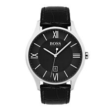 Hugo Boss Mens 1513485 Governor Black Leather Strap 44mm Watch