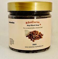 Nakambe AfroCurves Black natural soap with Akpi Oil 250g