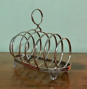 Gorgeous Antique Art Deco A1 Solid Silver Plate Toast Rack - Beautiful Design