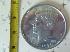 "BIG MONEY 3"" Novelty Metal Coin Copy of 1976 Bicentennial Kennedy Half Dollar"