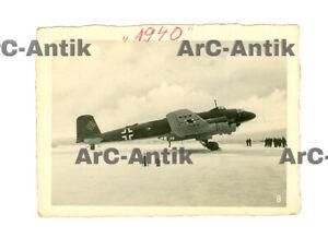 """Foto Flugzeug Focke-Wulf FW 200 """"Condor"""" Luftwaffe 1940 Kennung BS AG Norwegen"""