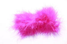 Moulin Rouge-glamorously Fluffy Pink Quality Feather/Chrome Hair Barrette(Zx292)