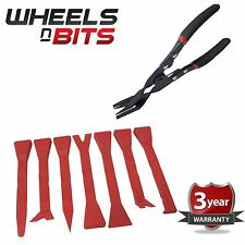 8PC KIT FOR CAR DOOR CARD TRIM DASH CLIP REMOVAL PLIERS & 7 TOOLS PANEL REMOVER