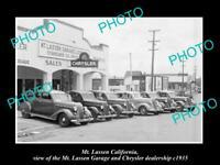 OLD POSTCARD SIZE PHOTO OF Mt LASSEN CALIFORNIA THE CHRYSLER MOTOR GARAGE 1935