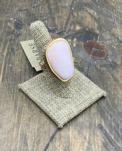 Barse Patisserie Ring- Pink Opal- Bronze- 8- NWT
