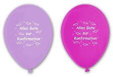 10 Luftballons Konfirmation, flieder & fuchsia, ca. 30 cm