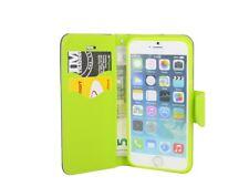 Style Livre Étui de Portable Pochette Accessoires en Bleu-Vert pour L'IPHONE 6/