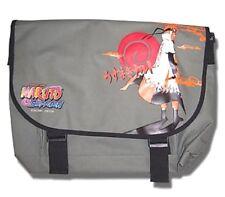 Naruto Shippuden Naruto w/ Yondaime Coat MESSENGER BAG GE Anime Lt Olive