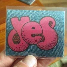 YES Vintage Cloth Arcade Sticker; EX- unused; circa 1976; super ultra rare