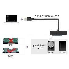 USB 3.0 to SATA 22 Pin 2.5''/3.5'' Inch SSD HDD Hard Drive Adapter Black S3E2