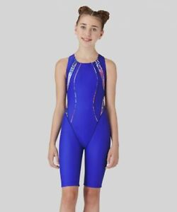 "Maru Girls ""Shatter Ecotech"" Swimming Pool Training Leg Suit Durable Swimsuit"