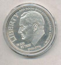 1996 50th Anniversary Roosevelt Design 1 oz .999 Fine Silver Round Exact Shown