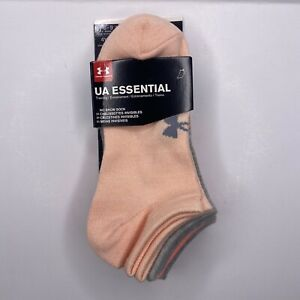 Under Armour Women's UA Essentials Athletic Multipack No Show Socks - 6 Pack