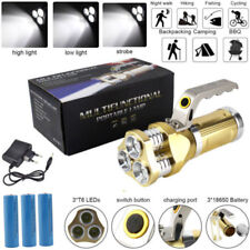 Rechargeable 90000LM 3XXM-L T6 LED Flashlight Torch Spotlight + 3X18650 +Charger