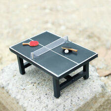 Mini Wooden Table Tennis Table Doll House Accessories Stadium Items