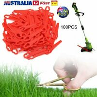 100Pcs Plastic Blades for KULLER BOSCH OZITO Grass Trimmer 12*7mm AU Stock %N