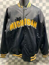 MICHIGAN Steve & Barry Snap Front Heavy Polyvinyl Jacket Men's Size XL