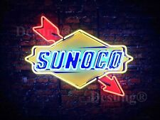 "New Sunoco Gas Gasoline Station Neon Light Sign 24"" Hd Vivid Printing Technology"