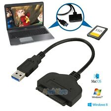"USB 3.0 to 2.5"" SATA Cable HDD SSD Hard Drive Adapter Cable Windows 10 Mac OS"