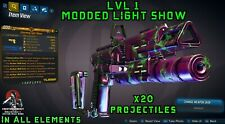 Borderlands 3 Modded LVL 1 Light Show x20 Projectiles 🎆 All Elements - XBOX PS5