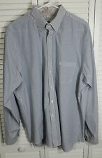 Etienne Aigner Mens L/Sleeve Buttn-Down Collar Striped Dress Shirt Size 17 36/37