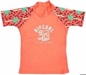 Rip Curl Mini Girls Miami S/SL (Coral) Size 6