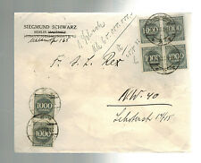 1923 Germany Inflation cover Delicatessen to Berlin