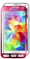 Glass-M Pink Border Best Shatterproof Galaxy S5 Tempered Glass Screen Protector