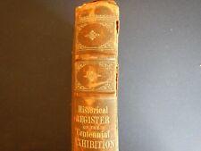 ILLUSTRATED HISTORICAL REGISTER CENTENNIAL EXHIBITION PHILADELPHIA 1876 AND PARI