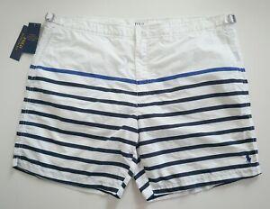 NWT Authentic POLO RALPH LAUREN MONACO Striped Swim Shorts Trunks Beachwear 40