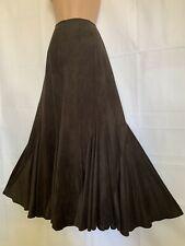 PER UNA 20L Brown Faux Suede Sweeping Maxi Skirt STEAMPUNK VICTORIAN BOHO
