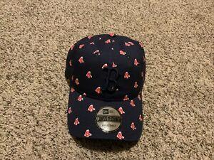 Boston Red Sox New Era  9TWENTY Adjustable Hat Navy/Red Cap