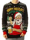 Ugly Christmas Party Sweater Unisex Men's Hoppy Holidays Santa Beer Drinking