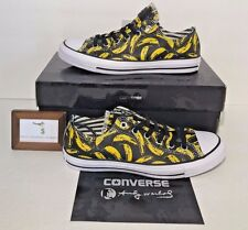 CONVERSE MENS SIZE 11 CHUCK TAYLOR ALL STAR ANDY WARHOL OX BANANA LOW LEATHER