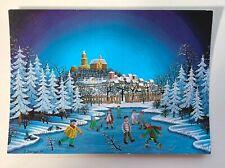 Winter in Kronberg im Taunus Postcard Naiv-Hinterglass Dieter Berlepp Germany 74