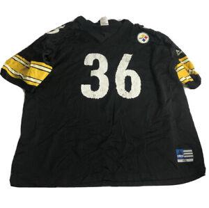 Vtg Adidas Jerome Bettis #36 Pittsburgh Steelers Jersey Mens Adult 2XL XXL Black