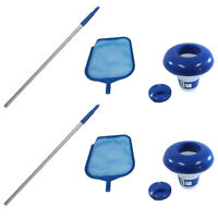 Intex Cleaning Maintenance Swimming Pool Kit w/ Vacuum Skimmer & Pole (2 Pack)