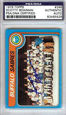 Scotty Bowman Autographed Signed 1979 Topps Card #246 Sabres PSA/DNA 83465629