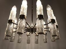 Glass Tube Design Chandelier Emperor 60s 70s Chrome Chandelier Lamp 60er 70er
