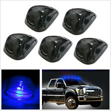 5 Pcs blue LED Cab Roof Top Marker Running Lights Clear Lens for Ford SUV Truck