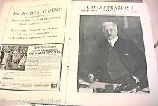 L ILLUSTRAZIONE ITALIANA 1919 Conferenza di Parigi Comunicazioni Piave Treviso