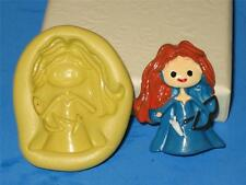 Brave Princess Merida 2D Push Mold Food Silicone Cake Topper Resin Clay A182
