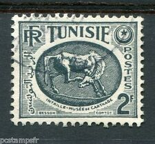TUNISIE 1950-53, timbre 340, CHEVAL, MUSEE CARTHAGE, oblitéré cachet rond