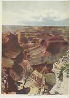 ANTIQUE GRAND CANYON BRIGHT ANGEL CANYON MAJESTIC CLIFFS OLD GRAVURE ART PRINT