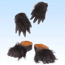 Gorilla Hände UND Füße zum Überziehen Affenfüße Schuh Tier Kostüm Überzieher