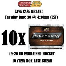 19-20 UD ENGRAINED 10 (TEN) BOX MASTER CASE BREAK #1767 - Montreal Canadiens