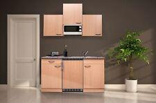 Mini Cucina Singola Cucinino Incasso Blocco 150 cm Faggio Respekta